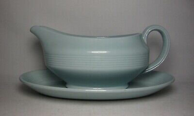 Woods Ware ~ Iris Gravy / Sauce Boat & Stand In Excellent Condition • 19.50£