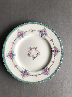 Antique Mintons 9 Inch Cabinet Plate Pink Flowers • 6£