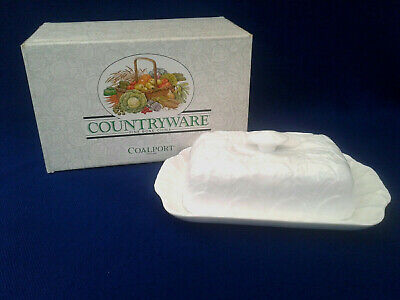 VINTAGE COALPORT BONE CHINA  COUNTRYWARE  ~ BUTTER DISH ~ C. 1960'S~ BOXED • 27.99£