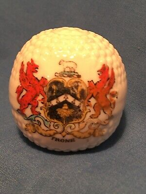 Crested China (unmarked) Golf Ball With Frome Crest • 12£