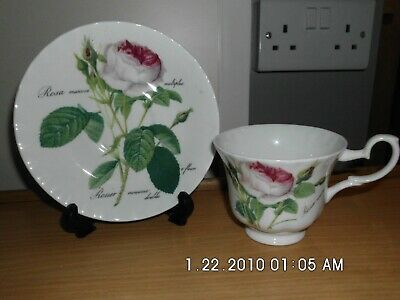 Tea Cup And Saucer By Roy Kirkham, Redoule Roses • 2.99£