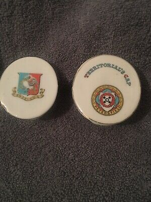 Crested China Arcadian Army Territorial Caps X2 • 9£