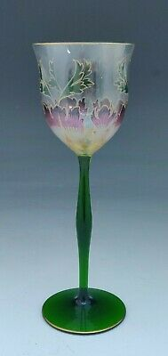 Theresienthal Wine Hock Glass, Enamel And Gilded, German C.1905 • 100£