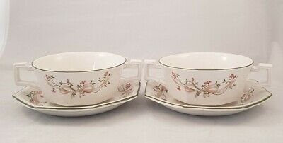 Johnson Brothers Eternal Beau Twin Handled Soup Coupes ×2 • 19.99£