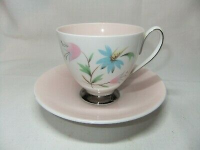Queen Anne Linda Pink Bone China Coffee Cup & Saucer • 9.99£