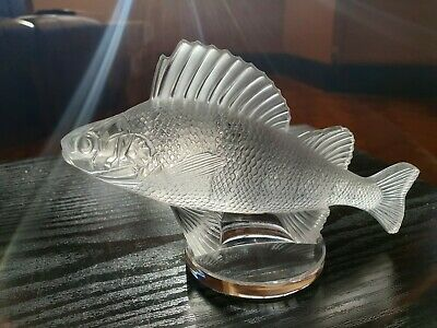 Lalique Crystal Fish (Perch) Mascot/Paperweight, Vintage, Excellent Condition • 54£