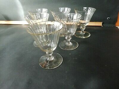 Set Of 6 Victorian Fluted Bell Shape Champagne Glasses In Champagne Colouring. • 17.50£