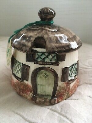 Meadow Crafts Devon Pottery Sugar Bowl With Lid • 1.99£