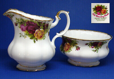 OLD COUNTRY ROSES SUGAR BOWL And CREAMER • 0.99£
