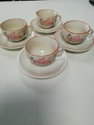 Boots Hedge Rose Tea Cups X 4 • 0.99£