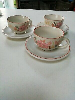 Boots Hedge Rose Tea Cups X 3 • 0.99£