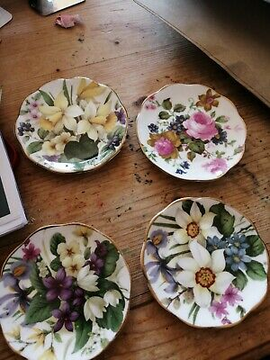 Minature Floral Dishes X 4. Perfect For Dressing Table.  • 0.99£