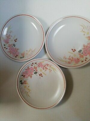 BOOTS HEDGE ROSE Side Plates X 3 • 0.99£