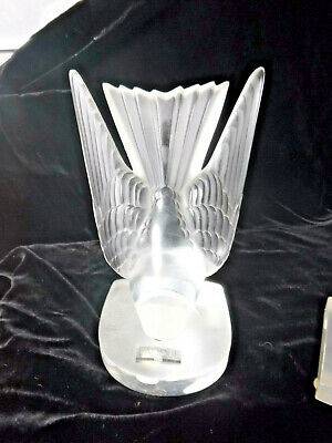 Lalique Hirondelle Pair Swallow Bookends  Frosted Glass - • 150£
