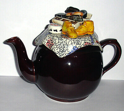 Paul Cardew Brown Betty Rise And Shoe Shine Teapot • 8.99£