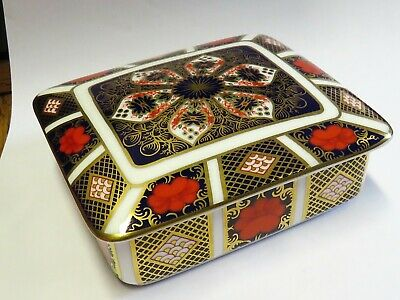 ROYAL CROWN DERBY OLD IMARI Cigarette Box, Quality 2nd • 15£