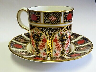 ROYAL CROWN DERBY OLD IMARI Coffee Can & Saucer • 23£