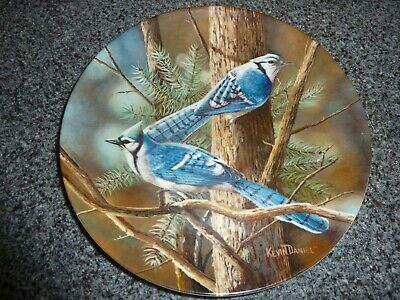 Collectors Plate 1985 The Blue Jay, By Encyclopedia Britannica Kevin Daniel • 2£