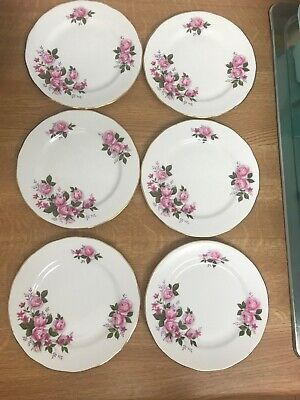 Set Of 6 Queen Anne Bone China Side Plates • 5£
