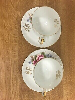 Royal Stafford Golden Wedding Anniversary Cup And Saucer (Pair ) • 5£