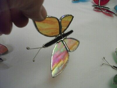 4 X Butterfly's Stained Glass Handmade Sun-catcher's / Window Decoration's • 24£