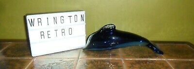 Wedgwood Blue Glass Paperweight Dolphin 21 Cm • 15£