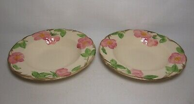 2 X FRANCISCAN DESERT ROSE 8 1/4  RIMMED SOUP BOWLS IN VERY GOOD CONDITION • 18.50£
