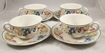 Villeroy And Boch Melina Cups And Saucers × 4  • 35£
