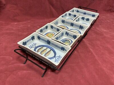 Vintage Scottish BUCHAN Hors D'oeuvres Nibbles Tapas 7 Sectional Dish's &  Tray  • 49.99£