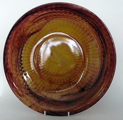Art Deco Davidson Style Brown Swirl Large Charger/Plate • 25£
