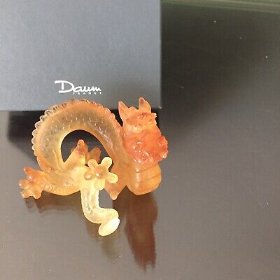 NEW Daum From France-Dragon Pate De Verre Crystal Limited Edition • 311.58£