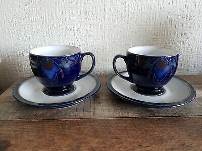 Denby Baroque Tea Cup And Saucer X 2. Very Good Condition. Hardly Used. • 7.99£