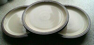 Denby Stoneware 'pampas' 10 1/8  Diameter Dinner Plate- In Good Condition • 3£