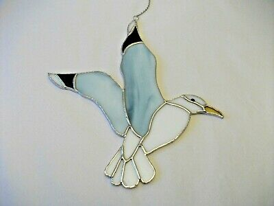 Stained Glass Handmade Seagull Sun-catcher / Window Decoration • 13.50£