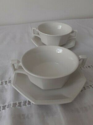 Johnson Brothers Heritage Two Soup Bowls And Saucers  • 11£