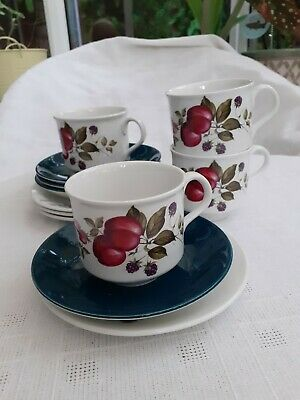 4 Ridgway Trios Of Cup, Saucer, Plate - Pattern Bromsgrove  • 18£