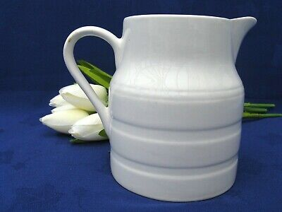 LORD NELSON Vintage, Retro White Banded Kitchen Jug. Country Style Pottery. • 14.50£