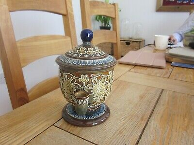Excellent Condition Doulton Artware Isobath Stoneware Inkwell Ink Well • 27£