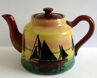 Motto Ware Small Teapot With Ships Design • 3.99£