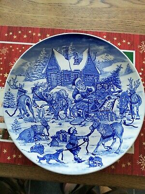 Spode Santa's Big Day, Reindeer Round-up Plate 2007 Mint Condition • 0.99£
