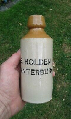 A Very Nice S Holden Canterbury Ginger Beer Bottle.  • 8£