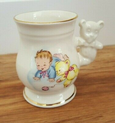 Cre Irish Porcelain Baby Christening Cup / Gift - Handmade In Galway • 1.50£