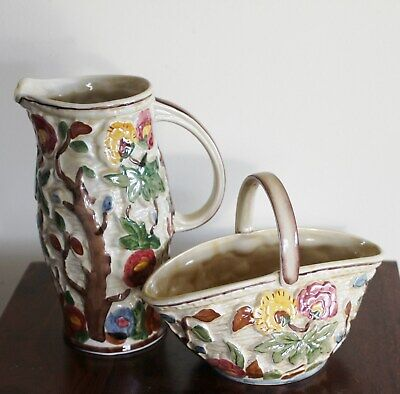 Indian Tree Jug And Basket By H.J Wood  • 24£