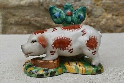 Antique Staffordshire Pottery Pig • 8.60£