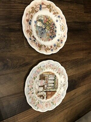 """Brambly Hedge Autumn & The Dairy Plates 8"""" • 12£"""