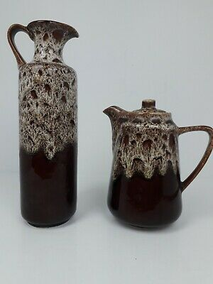 Fosters Pottery HoneycombTeapot And Oil Jar • 5.60£