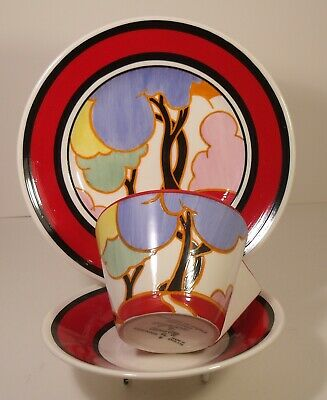 Clarice Cliff By Wedgwood Autumn Trio Cup, Saucer And Side Plate Boxed • 65£