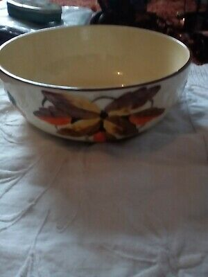 Nice Myott Art Deco Hand Painted Bowl Decorated With Flowers And Leaves • 4£
