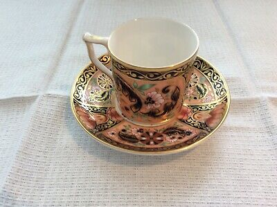 Royal Crown Derby Coffee Can And Saucer.Pink Camellia Pattern • 20£