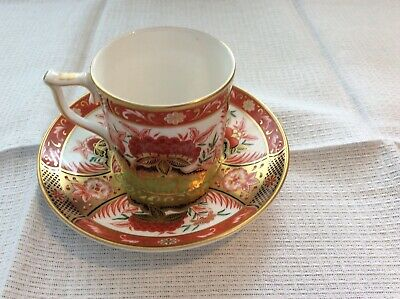 Royal Crown Derby Coffee Can And Saucer. Golden Peony Pattern • 20£